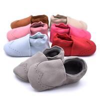 Baby Infant Boy Girl Soft Sole Nubuck Leather Fringe Moccasins Shoes 0-18 Months