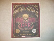 Guns N' Roses - 2011 Us Full-Page Concert Ad:December 21 The Forum Los Angeles