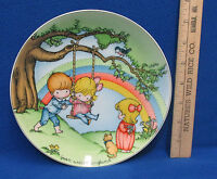 1981 Joan Walsh Anglund Collectors Plate Make Each Day A Rainbow Children Swing