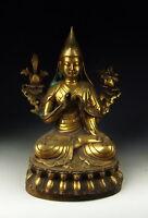 Chinese Antique Gilt Bronze Tibetan Buddha Statue