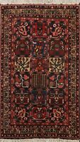 Vintage Garden Design Traditional Wool Area Rug Hand-Knotted Oriental Carpet 5x7