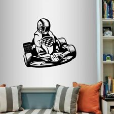 Vinyl Decal Go Kart Racing Guy Racer Karting Extreme Sports Wall Sticker 2255