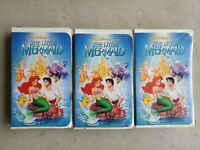 The Little Mermaid (VHS) banned cover black diamond 913 lot of 3