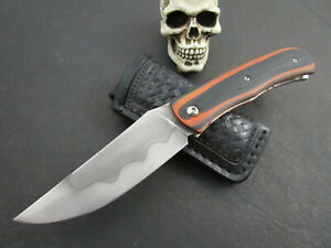 Custom Mozolic Knives Forged W2 Front Flipper Tactical Folder Great Hamon Sheath