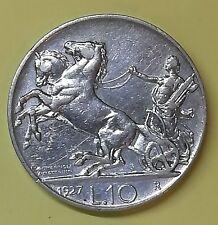 10 lire 1927** V.E.III biga in qbb