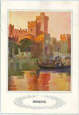 1928 SIRMIONE Brescia Lago di Garda Lombardia autotipia Ente Naz Ind. Turistiche