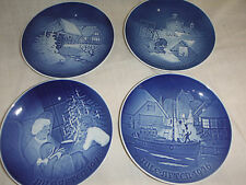 lower * 4 B & G Bing & Grondahl Jule After Christmas Plates 1975 1976 1977 1978