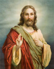Jesus Love And Peace Oil Paint Art Silk Canvas Poster Wall Decor Unframed 16x24""