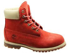 Timberland AF 6 Inch Prem Womens Boots Orange Leather Lace Up Winter 3832R D45