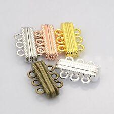 3-reihig Schließe Magnetverschluss Magnetic Clasp 3-strands gold silber bronze