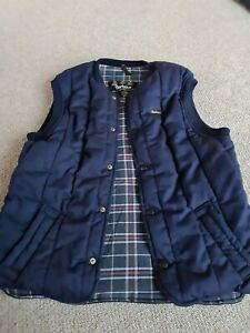 Mens Barbour Navy Blue Size M Bodywarmer Puffer Quilted