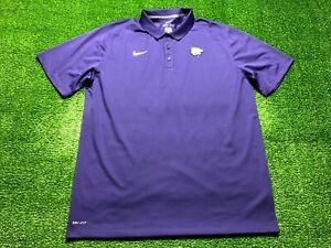 Nike Dri-Fit Kansas State Wildcats Men's Short Sleeve Polo Shirt Size XL Purple
