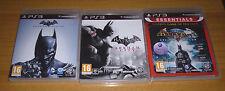 3 jeux playstation 3 PS3 - Batman arkham city + Batman arkham origins + asylum
