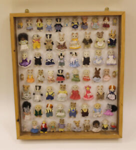Handmade Oak framed with 65 Sylvanian Families Characters