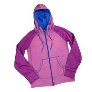 Champion Y2k Full Zip Jacket Hoodie Pink Blue Magenta Zipper Pockets Size Small