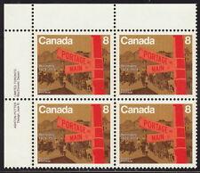 Canada #633 8¢ Winnipeg Centennial Ul Inscription Block Mnh