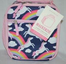 New NO MONO Pottery Barn Kids Mackenzie Pink Aqua Sweet Kitty Lunch Bag Box Cat