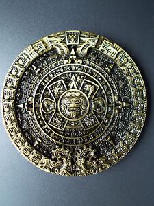 Belt Buckle Aztec Calendar