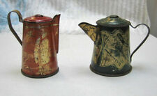 2 Vintage Child's Coffee Pots--From  Toy Tin Litho Tea Sets- Early