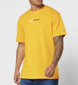 Tommy Hilfiger Jeans Straight Small Logo Crew Neck Cotton T-Shirt For Men