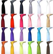 Cravate FASHION SLIM Satinée 36 Couleurs 140cm Neuf Port Gratuit