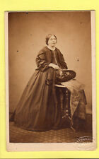 Victorian CDV - Lady  wearing Crinoline Dress - Davies - London