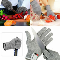 FJ- CUT PROOF STAB RESISTANT STAINLESS STEEL WIRE METAL MESH BUTCHER GLOVES SAFE