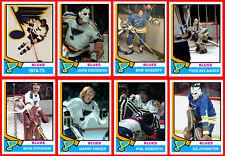 ST. LOUIS BLUES 1974-75 Hockey Card Style Team Photo Set 40 Photo Cards MINT