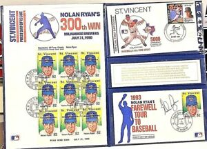 1993 Nolan Ryan Signed Farewell Tour To Baseball First Day Cover Auto