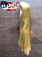 """1/6 Scale Woman Hair Wig BLONDE STRAIGHT Hair For 12"""" Female Head Sculpt ❶USA❶"""