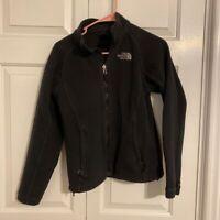 The North Face Womens Fleece Jacket Black Long Sleeve Full Zip Mock Neck XS