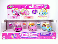Shopkins Cutie Cars 3 Pack Series 2 Dessert Drivers Coll QT2-32 QT2-33 QT2-34