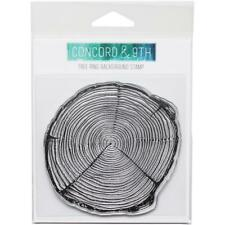 """NEW Concord & 9th """"TREE RING BACKGROUND"""" Clear Photopolymer Stamp"""