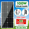 100W Solar Panel Power Kit Regulator Battery Charger + PWM 10/20/30A