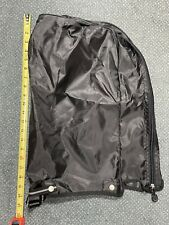 Golf Clubs Bag Rain Hood Cover 4 Buttons 2 Zippers Gray Cart Carry Rainhood GUC