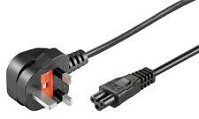 Kleeblatt MIckey Maus NetzKabel für Laptop Netzteile mit UK Stecker 1,8 m, Schwa