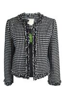 KATE SPADE New York Black Dashing Beauty Hounds Tooth Tweed Jacket (US 4)