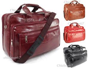 New PU Leather Business Office Laptop Messenger Briefcase Travel Shoulder Bag