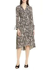 Karen Millen Snakeskin Print Maxi Long Sleeve Dress UK Size 10