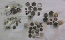 LARGE LOT VINTAGE ANTIQUE WRIST WATCH PARTS REPAIR BENRUS ELGIN BULOVA WALTHAM