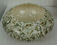 "Very Rare Vintage  Paisley Speckled  Atlantic Mold Planter 70""s  7"" Opening"