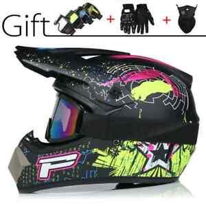 Professional motorcycle helmet for motocross racing, cartoon pattern, off-road,