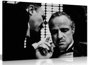 Godfather Marlon Brando Don Corleone Gangster Canvas Wall Art Picture Print