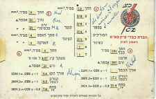 Old lithographed table of cable calculation formula with Logo of the firm Hebrew