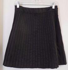 ODILLE Anthropologie Black Pintuck Skirt ~ Women's Size 8