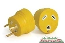 Camco 30 amp RV Generator Twist Locking Adapter Plug Camper 55333