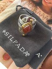 Silpada Gold Stone Warm Hues Ring Size 8 R3483 NIB