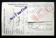 """CARTOLINA POSTALE - POSTA MILITARE - I GUERRA MONDIALE """"RISPEDITA AL MITTENTE"""""""