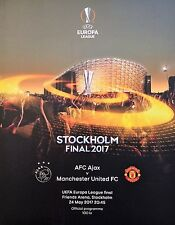 Programm UEFA EL Finale 2017 Ajax Amsterdam - Manchester United # Stockholm
