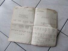 ARBRE GENEALOGIQUE MANUSCRIT 1824 SABLIERE DE COLMAR GLEICHENSTEIN